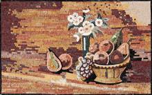 GEO1028 fruit bowl and flower vase backsplash