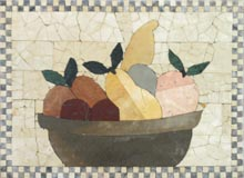 GEO1346 simple fruit bowl kitchen mosaic