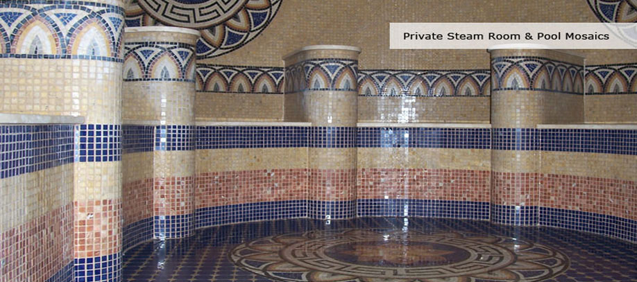 Private Steam Room & Pool Mosaics