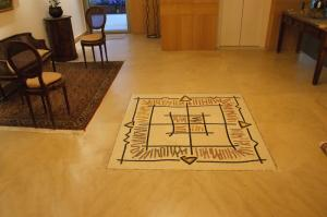 Celtic Compass Mosaic in the Living Room