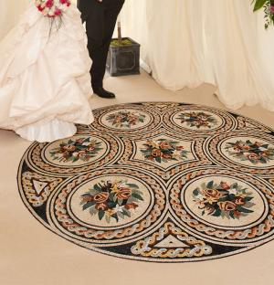 Remarkable Wedding Hall Mosaic Entrance