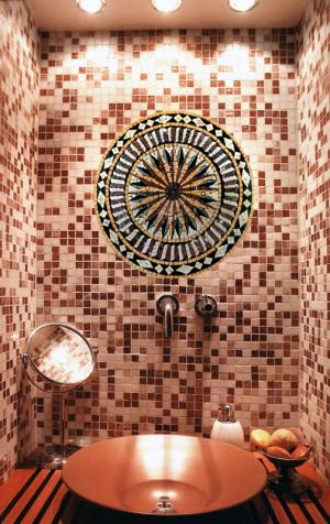 Mosaic Insert Over the Lavatory