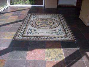Traditional Mosaic Rug for Your Patio