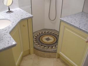 Shower Floor Mosaic Medallion