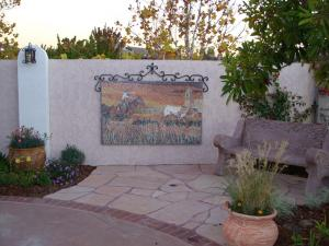 Mexican Village Mosaic Mural Outdoor Decor