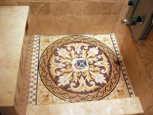 Royal Shower Floor Mosaic Marble