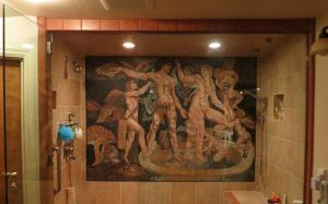 Nude Gathering Shower Wall Mosaic