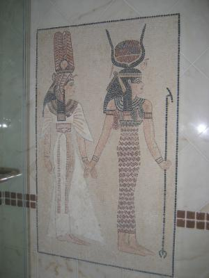Egyptian Bathroom Mosaic Ambience