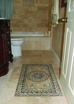 Mosaic Carpet for the Bathroom