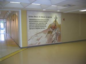 Pope Jean Paul II Mosaic at Public School