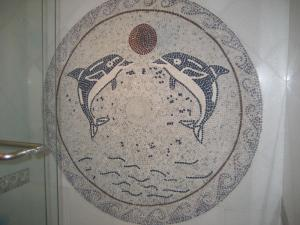 Dolphin Fun Mosaic Medallion
