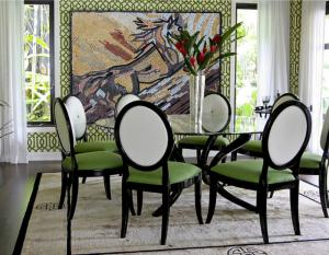 Color Schemes Dining Room Mosaic