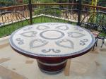 Wine Barrel Tabletop Mosaic for Your Garden