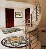Mosaic Medallion by Your Staircase