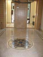 Charming Mosaic Compass Medallion at the Door