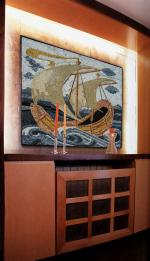 Sailing in the Wall Mosaic Ship