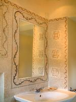 Bathroom Mosaic Mirror Frame Inlay