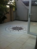 Outdoor Mosaic Compass Medallion